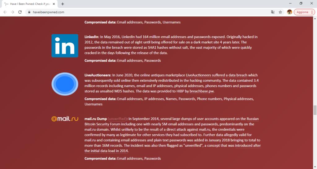 Elenco dei data breaches