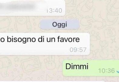 """Truffa Whatsapp: """"Ho bisogno di un favore"""""""