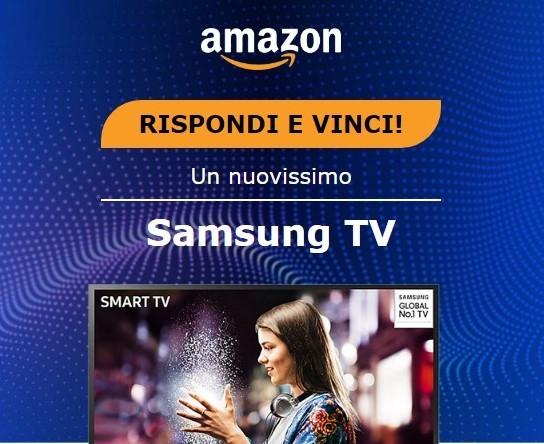 Truffa Amazon - Samsung TV - Rispondi e vinci